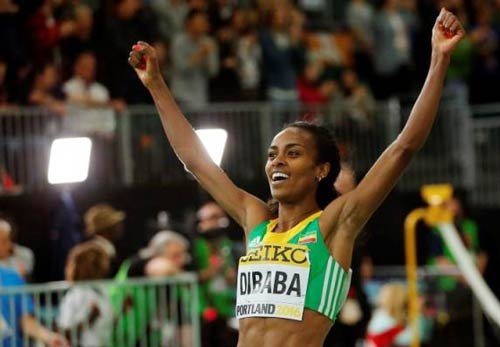 Genzebe Dibaba wins Women's 3000m Final - IAAF WIC in Portland 2016